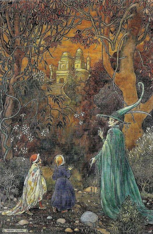 Helen Jacobs (1888-1970)English illustrator who worked in the youth book sector and especially around fairy tales. The Enchanted Wood
