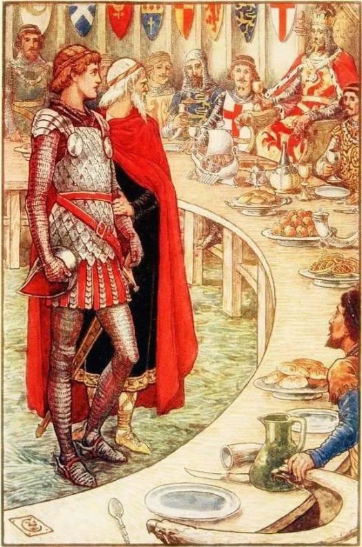 Henry Gilbert, King Arthur's Knights (1911), illustrated by Walter Crane