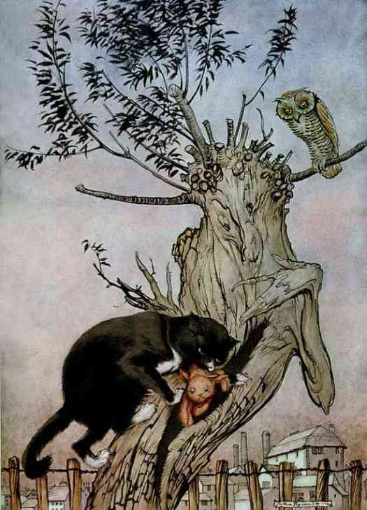 Illustration from Margery Williams Bianco's, book, 'Poor Cecco'. 1935 by Arthur Rackham