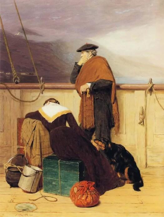 John Watson Nicol - Lochaber No More ship
