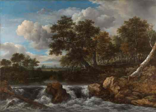 Landscape with Waterfall, Jacob Isaacksz van Ruisdael, c. 1668