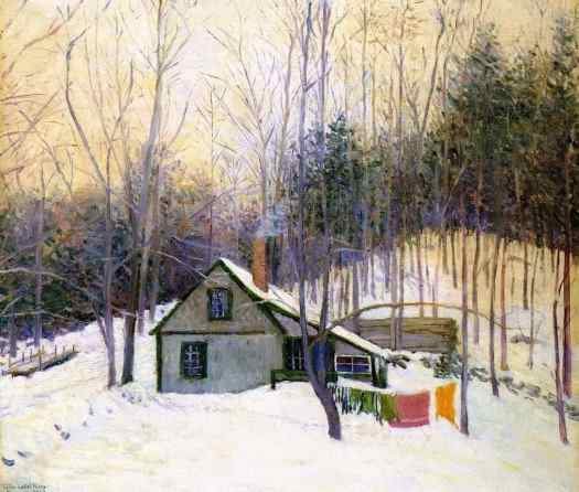 Lilla Cabot Perry (1848 - 1933) A snowy Monday, 1926