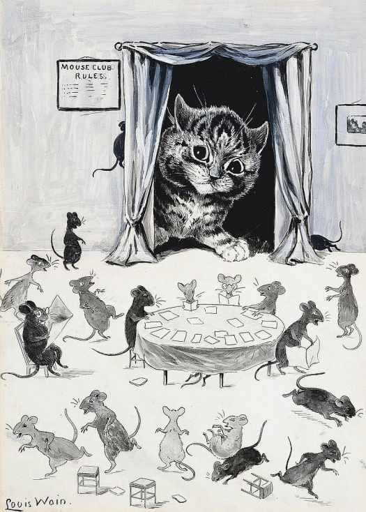 Mouse Club Rules by Louis William Wain (1860-1939)