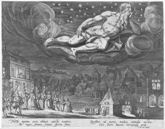 Night, Adriaen Collaert, after Maerten de Vos, 1570 - 1597