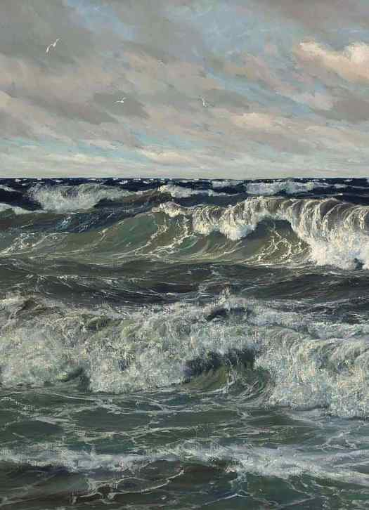 Patrick von Kalckreuth (1898 - 1970) The North Sea, 1955 waves