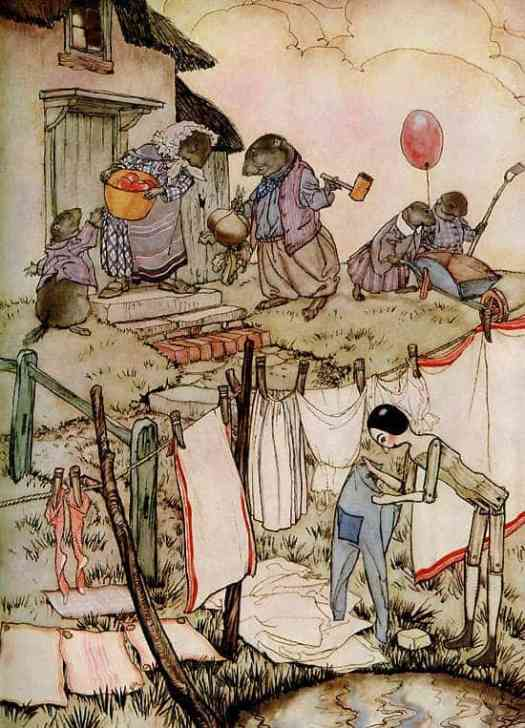 Poor Cecco by Marjery William Bianco illustrated by Arthur Rackham Mrs Woodchuck