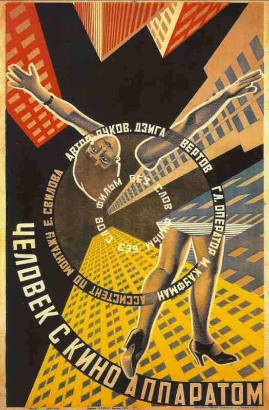 Poster for MAN WITH A MOVIE CAMERA (1929).
