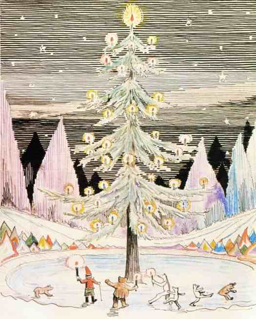 .R.R. Tolkien (1892 - 1973) 1934 illustration for Letters From Father Christmas, a collection of letters written and illustrated by Tolkien between 1920 and 1943 for his children
