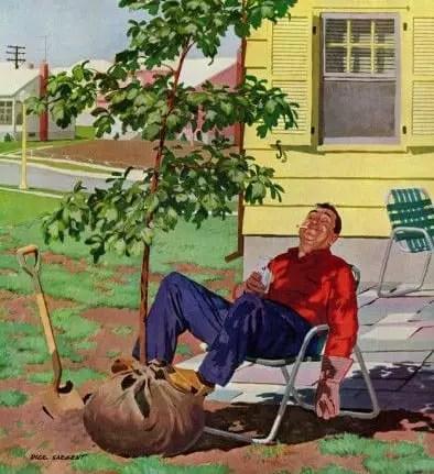 'Shade Tree, April 12, 1958' Giclee Print - Richard Sargent