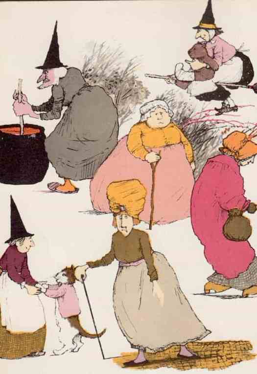 The Teeny, Tiny Witches, written by Jan Wahl, illustrated by Margot Tomers, and published in 1979 as part of Putnam's Weekly Reader series