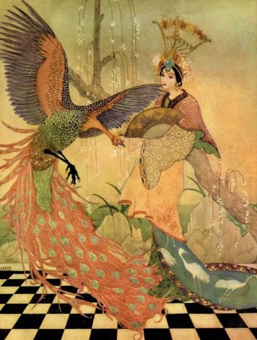 Illustration by English artist and illustrator Thomas Mackenzie (1887-1944) for Aladdin and his Wonderful Lamp, 1920