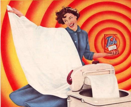 Tide washing powder, Woman and Home May 1958