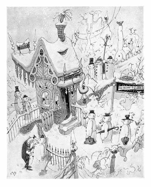When the railway is closed by snow... Rowland Emett, Punch 1953
