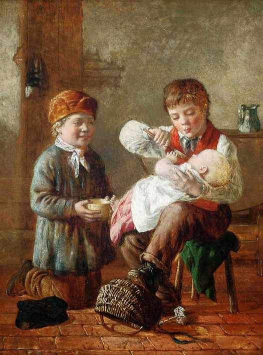 William Hemsley - Mother's Out 1870