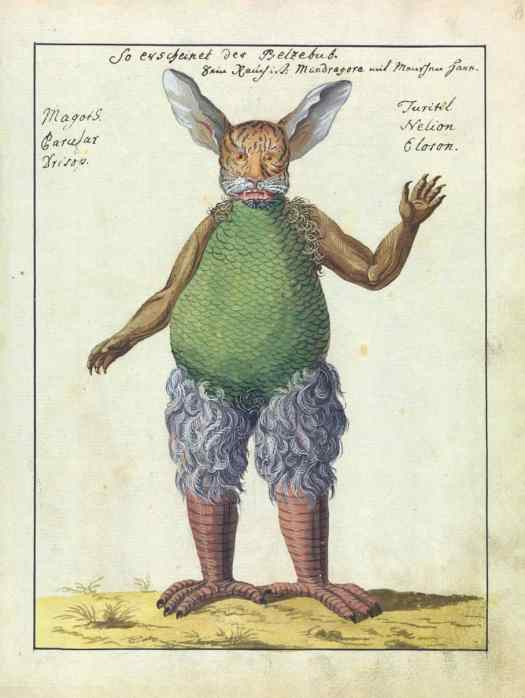 from an 18th-century compendium of demonology and magic