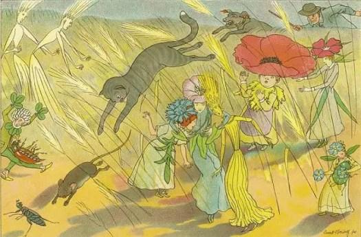 1924 Ernst Kreidolf illustration from Dream Garden, Tales of Flowers & Butterflies flower