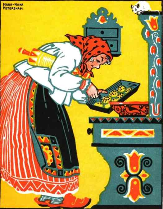 1924 illustration by Maud and Miska Petersham, The Poppy Seed Cakes