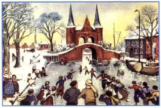 A Day On Skates, The Story of a Dutch Picnic, Hilda Van Stockum, Edna St. Vincent Millay, 1934