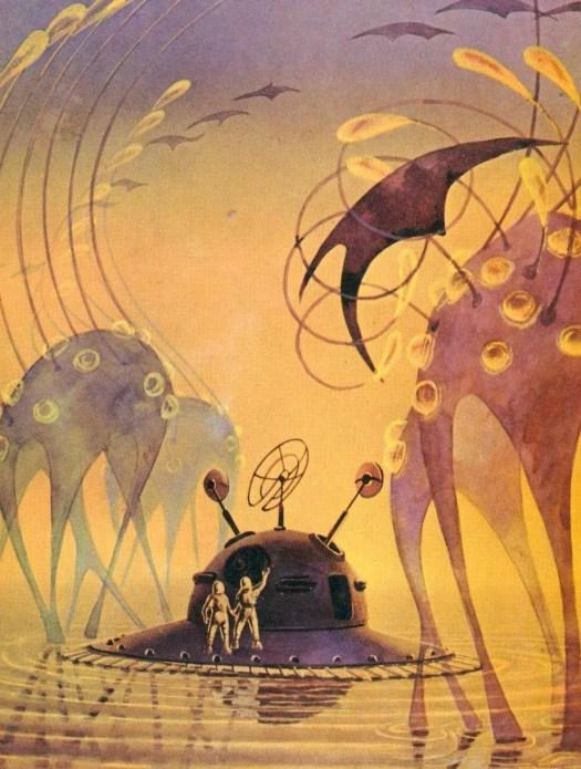 Andrey Sokolov (1931 - 2007) 1967 illustration for Zhdite Nas, Zvezdy (The Stars, They Await Us) by cosmonaut Alexei Leonov