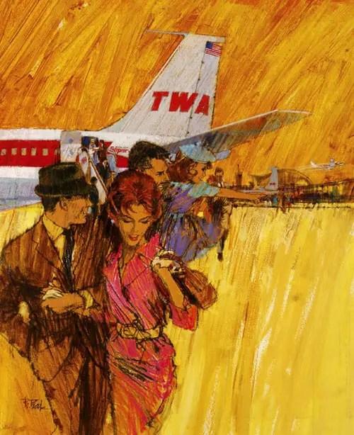 Bob Peak TWA plane
