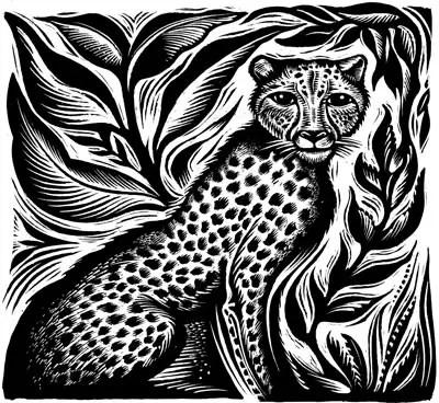 Cathie Bleck leopard