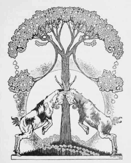 Dugald Stewart Walker, 1883–1937 from The Girl Who Sat By The Ashes, 1919 goats symmetry