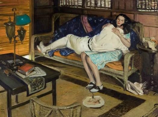 Harold von Schmidt (American, 1893 - 1982), Forgiven, Cosmopolitan illustration 1926