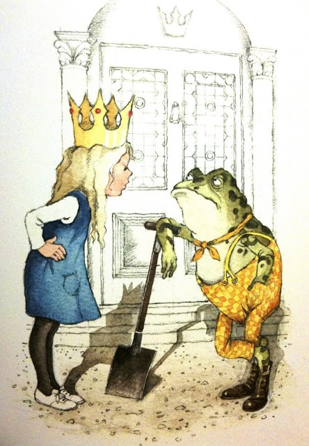 Helen Oxenbury - Through the Looking Glass frog