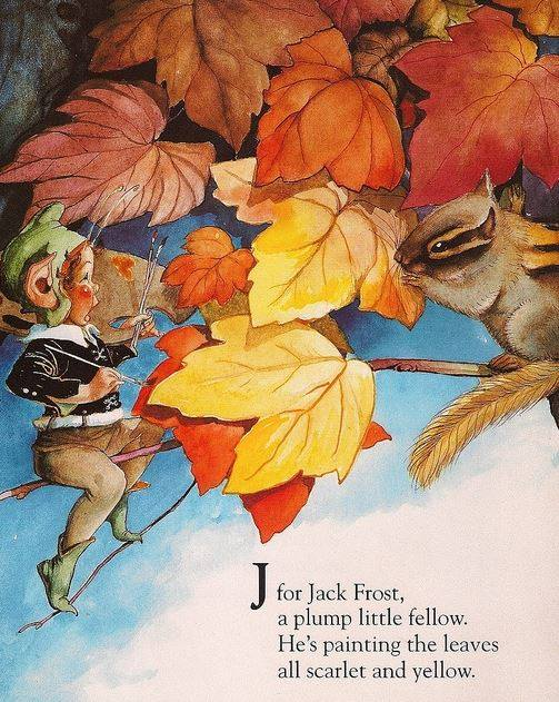 Illustration by Fanny Young Cory (1877-1972) Jack Frost autumn