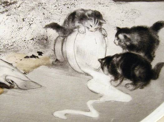 Louis Icart, (1880-1950) detail from an etching, c. 1925