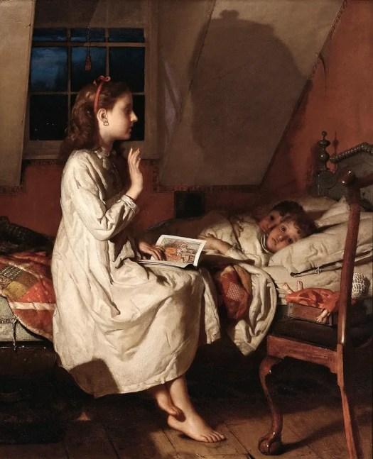 Seymour Joseph Guy - Story of Golden Locks bed shadow