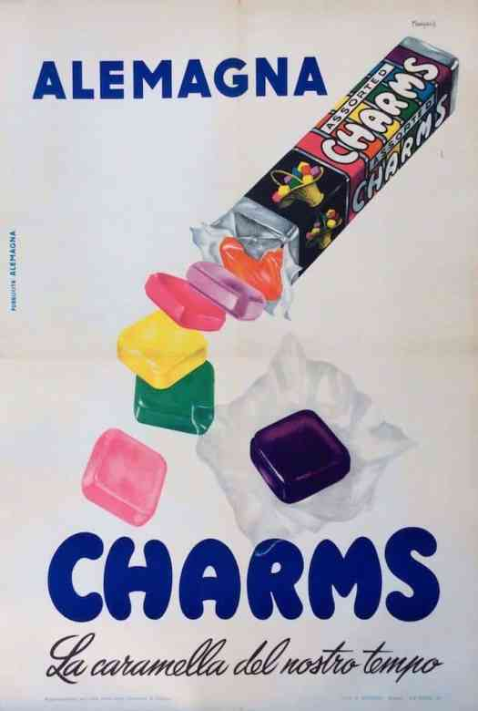 'The Candy of Our Time' Poster illustration by Menzardi, 1954