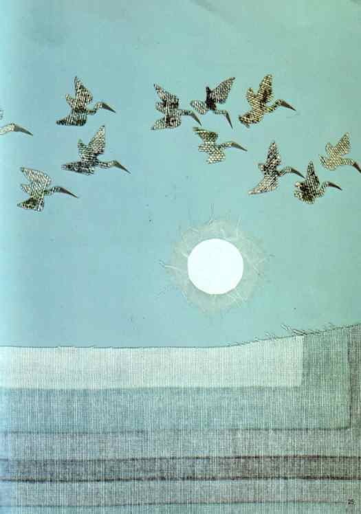 They soared up into the sky and flew away by Sakura Fujita taken from 'The Moon and the Fishes' by Sukeyuki Imanishi. 1972. Gakken
