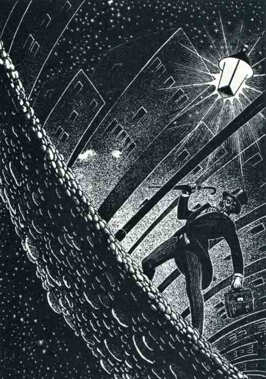 Virgil Finlay (1914 - 1971) 1947 Illustration for 'The Angry Street' by G. K. Chesterton