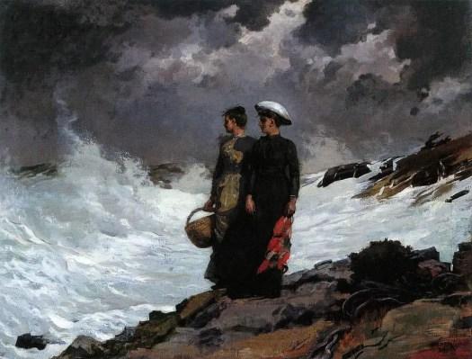 Winslow Homer (1836 - 1910) Watching The Breakers, 1891