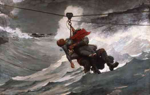 Winslow Homer - The Life-Line waves