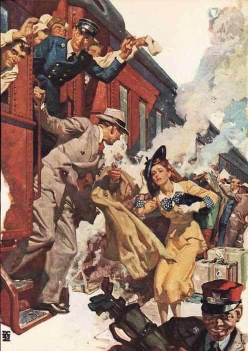 1942, At the Station by Dean Cornwell (1892-1960)