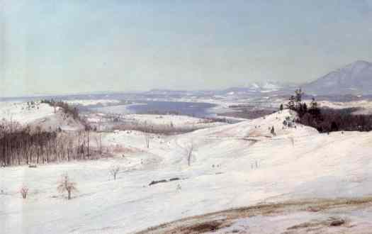 Frederic Edwin Church - View of Olana in the Snow New York America