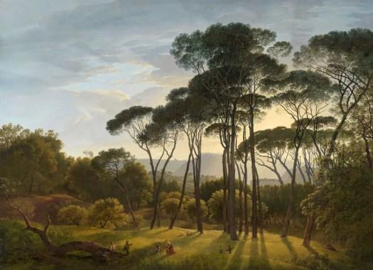 Italian Landscape with Umbrella Pines, Hendrik Voogd (the Dutch Claude), 1807