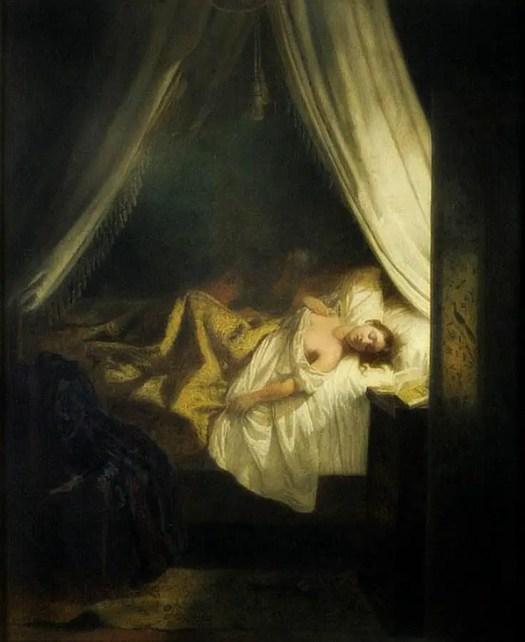 Le Vampire (1825) by Eugène Delacroix (France, 1798-1863)