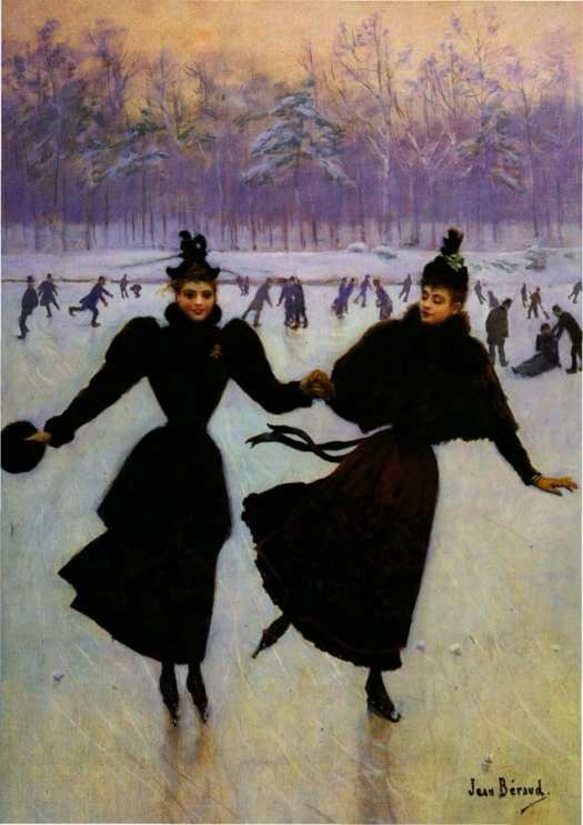 Les patineuses, by French painter Jean Béraud (1890)