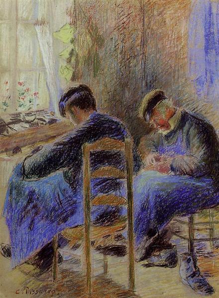 Shoemakers, by French painter Camille Pissarro (1878)