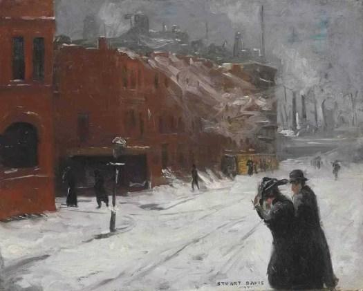 Stuart Davis (1892 - 1964) City Snow Scene , 1911