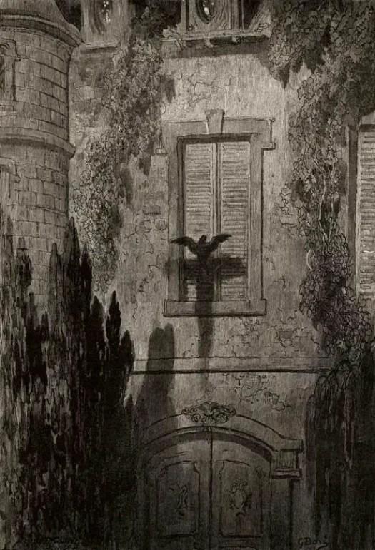 The Raven (Edgar Allan Poe), Gustave Dore, 1883