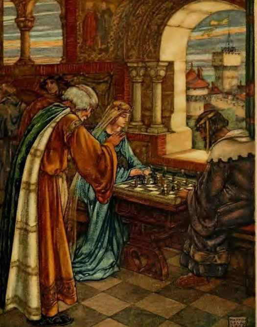 The Romance of Tristan and Iseult illustrated by Maurice Lalau 1910 chess