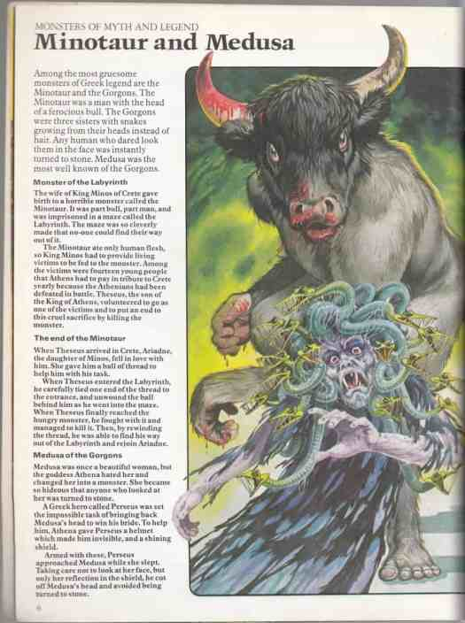 Usborne World Of The Unknown Monsters, 1977