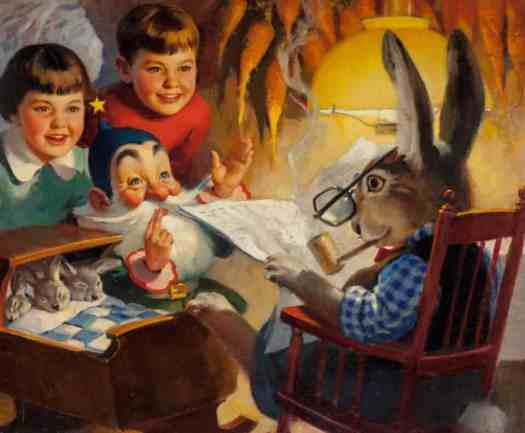 Andrew Loomis (American, 1892-1959) calendar illustration 1958 newspaper