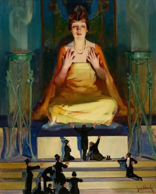 Walter Dean Goldbeck (1882 - 1925) Idol Worship 1915