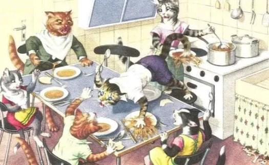 Eugen Hartung (1897-1973) a Mainzer cats postcard (1940s-60s)