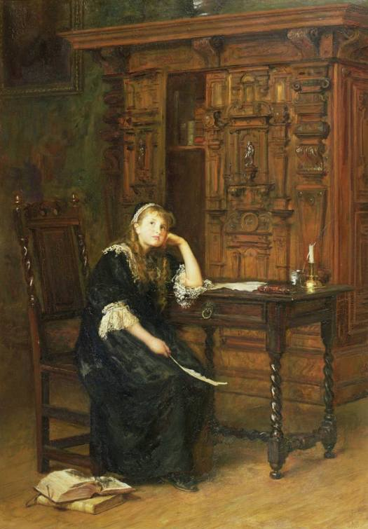 John Everett Millais - Princess Elizabeth in Prison